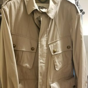 Burberry short men's trench coat